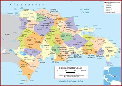 Amazon.com : Academia Maps - Wall Map of Dominican Republic ... on haiti map, peru map, el salvador, punta cana map, ecuador map, jamaica map, china map, canada map, cuba map, hispaniola map, united states map, mexico map, puerto rico, caribbean map, spain map, panama map, dr map, italy map, belize map, costa rica map, carribean map, costa rica, punta cana, hungary map, santo domingo,