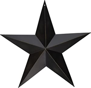 CWI Gifts Barn Star Wall Decor, 12-Inch, Antique Black