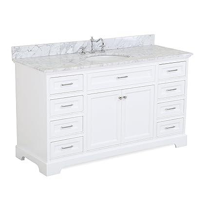 aria 60 inch single bathroom vanity carrara white includes a rh amazon com 60 inch white shaker bathroom vanity 60 inch white bathroom vanity single sink