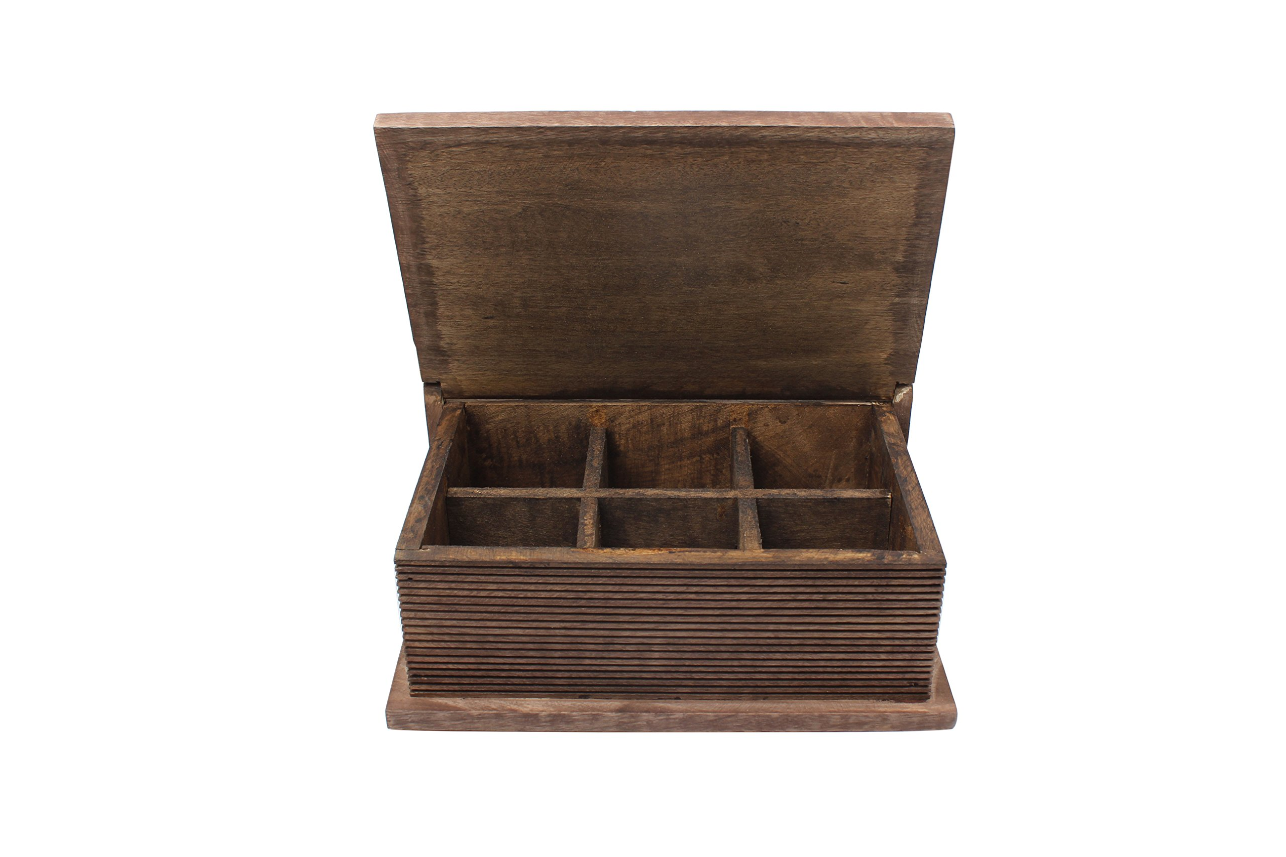 storeindya, Tea Boxes Wooden/Tea Box Organizer/Tea Box Holder/Tea Storage Box/Tea Chest Boxes/Wood Tea Box Handmade Wooden Teabags Holder Chest Organizer (Dark Eve Collection) by storeindya (Image #4)