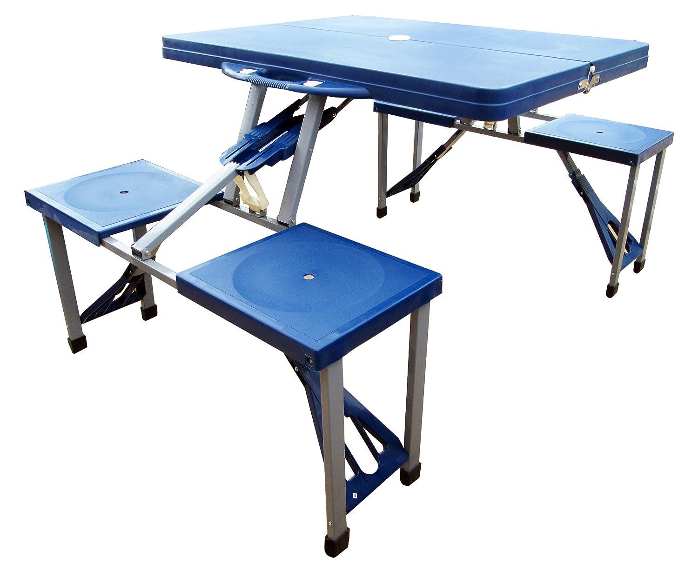 OL Pro ol902 plástico plegable mesa de picnic - azul: Amazon ...