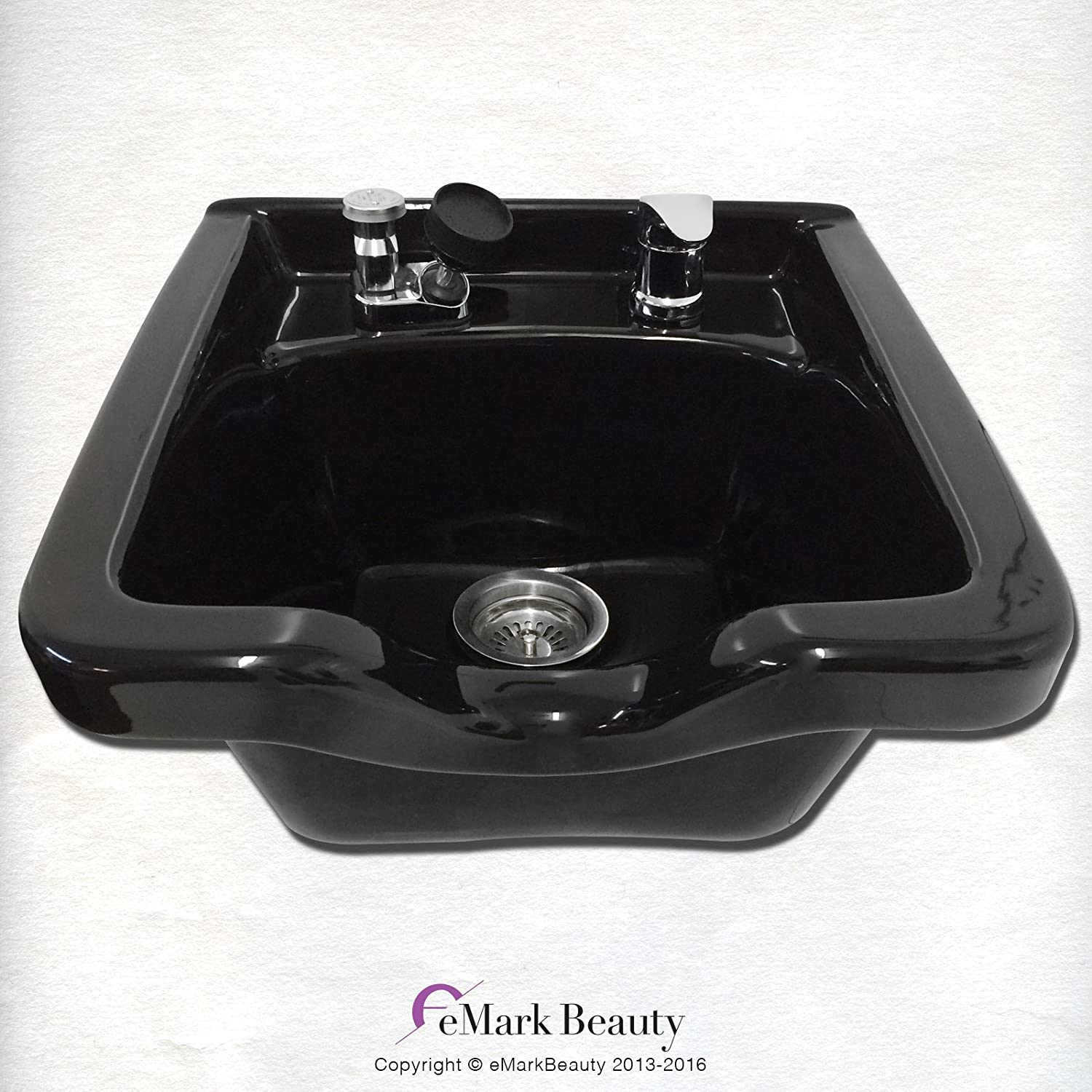 Amazon.com: Shampoo Bowl Black ABS Plastic Salon and Spa Hair Sink ...