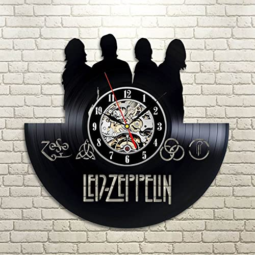 Maxi Moon Led-Zeppelin Art Vinyl Wall Clock Gift Room Modern Home Record Vintage Decoration