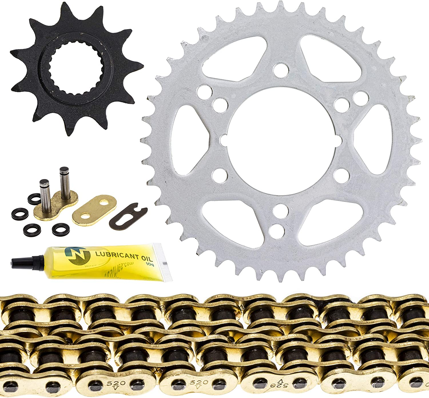 NICHE Drive Sprocket Chain Combo for Polaris Trail Boss 330 325 Front 11 Rear 40 Tooth 520V-X X-Ring 78 Links