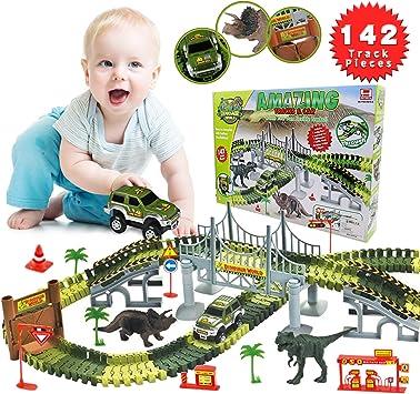 YORKOO Spielzeug für 3 5 Jahre alt Jungs Dinosaurier