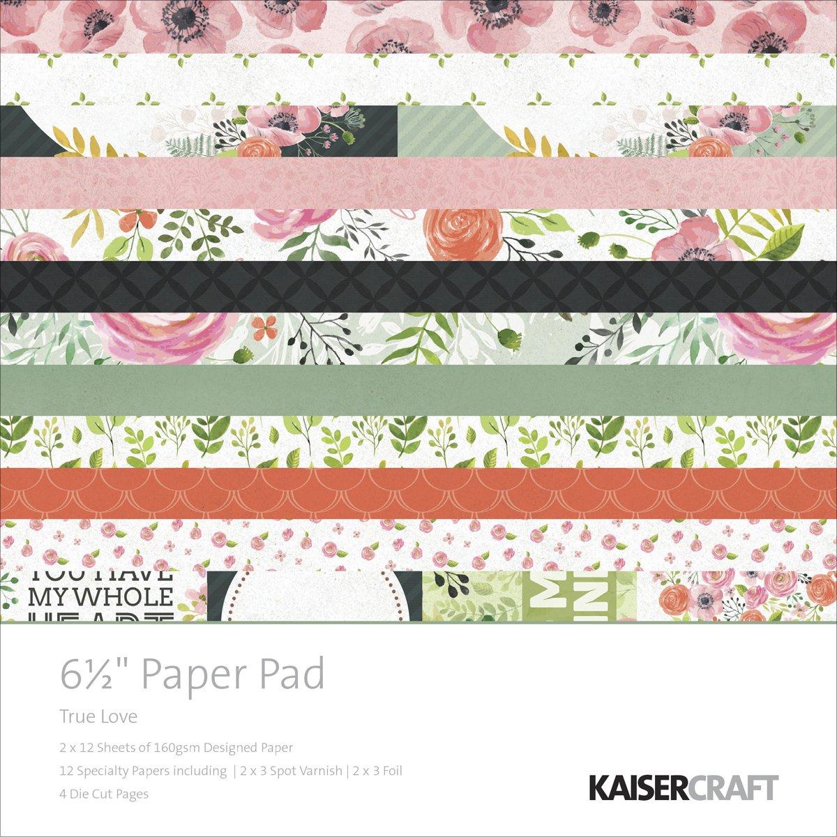 Kaisercraft Paper Pad 6,5 x 6,5 40 40 40 Pkg True Love B017JNYJ2K  | Verrückte Preis  3c9837