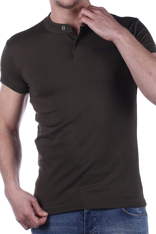 Uomo T-Shirt da Uomo con Bottoni BOXEUR DES RUES