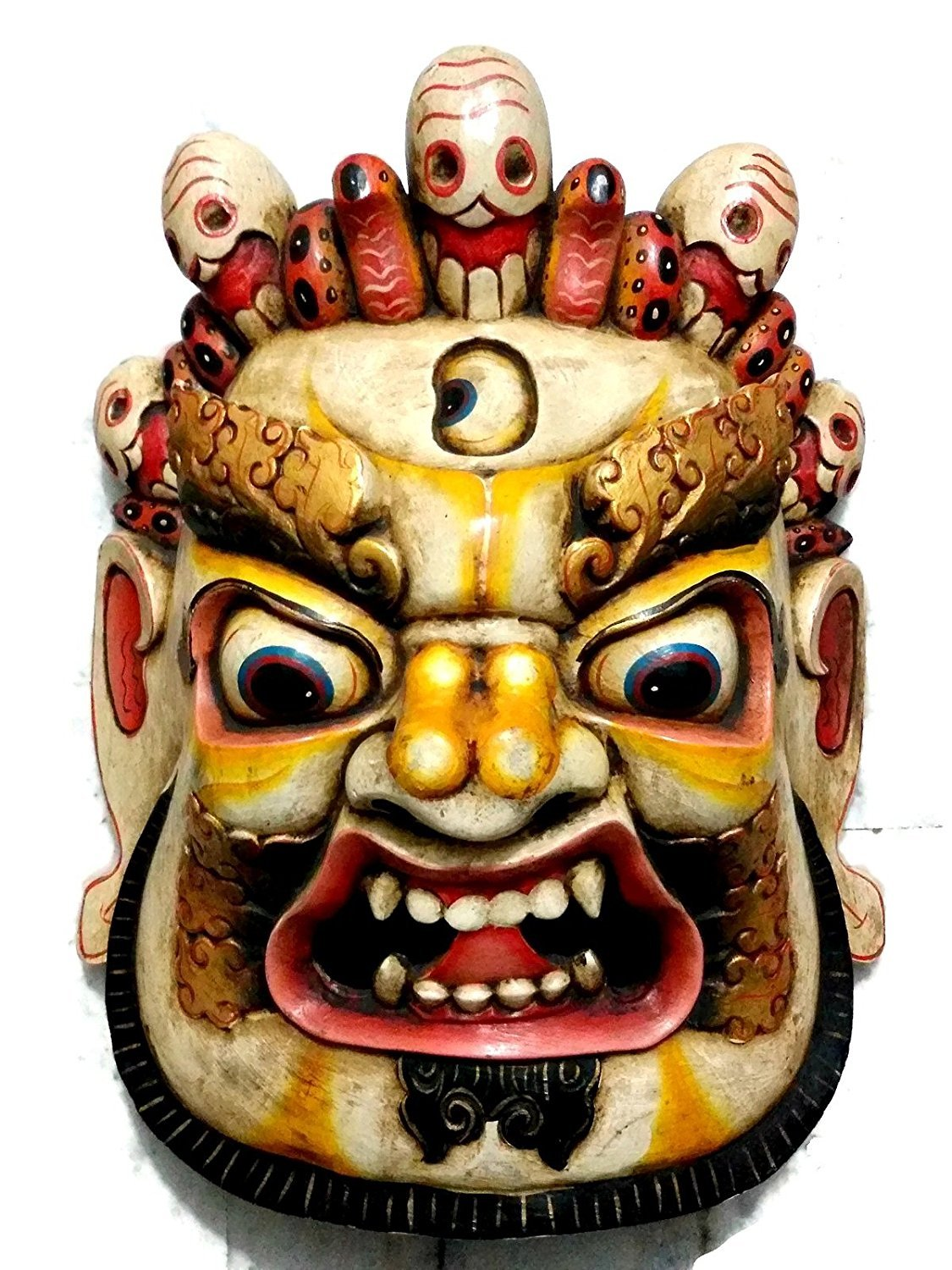 Amazon.com: AapnoCraft Unique Mahakala Wall Hanging Large Wooden ...