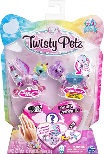 4 Collectible Bracelets New Twisty Petz Series 1 Unicorns Puppies New Sold Out