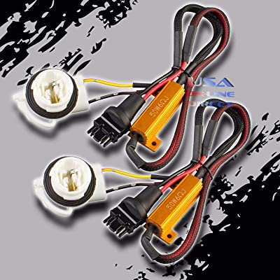 2pc Canbus Error-Free Load Resistor LED HYPER FLASH Delete Harness 3157 3156: Automotive