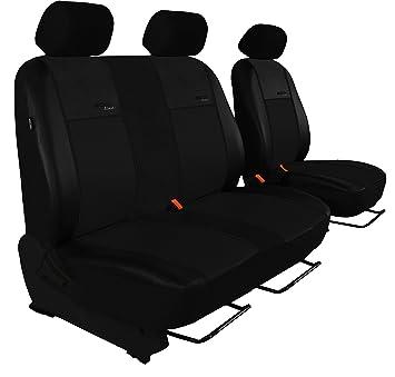 Sitzbezüge 1+2 für Renault Trafic III ab 2014 Kunstleder hier in ROT.