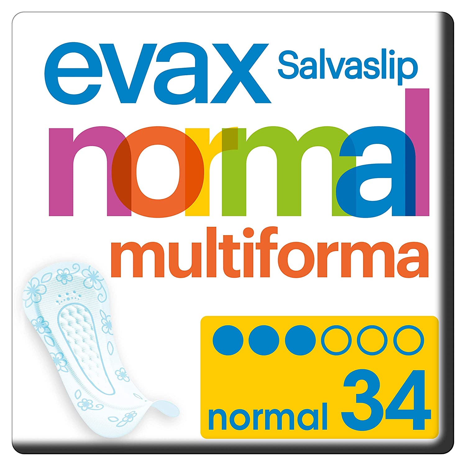 Evax Salvaslip Normal Multiforma Protegeslips 34 Unidades: Amazon ...