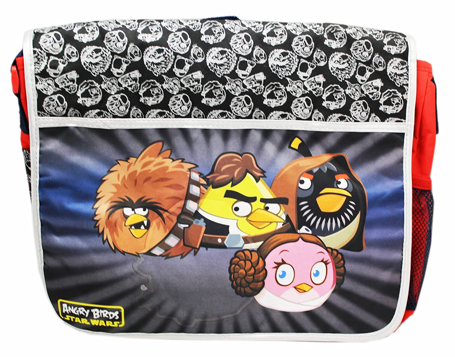 Angry Birds Star Wars Red//Silver Colored Kids Messenger Bag