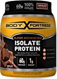 Body Fortress Super Advanced 100% Protein Isolate, Chocolate, 1.5 Pounds
