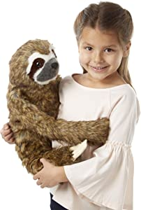 Melissa & Doug Lifelike Plush Sloth Stuffed Animal (12W x 14.5H x 9D in, Great Gift for Girls and Boys - Best for 3, 4, 5 Year Olds and Up)