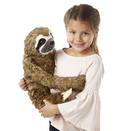 Amazon Com Melissa Doug Lifelike Plush Sloth Stuffed Animal 12w