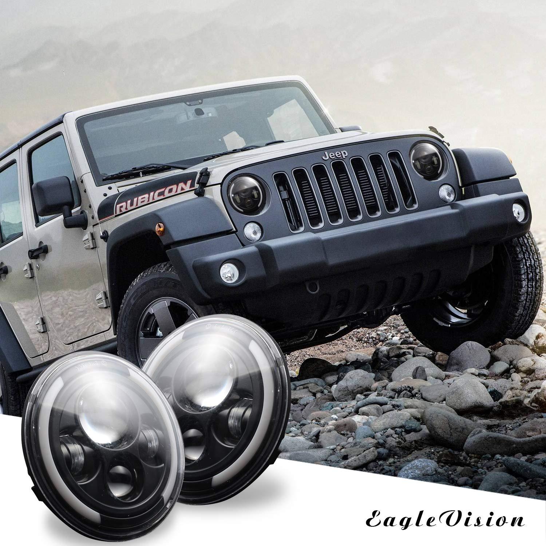 VEDONER 7, 2 Unidades Faro LED para Jeep Wrangler CJ JK TJ LJ