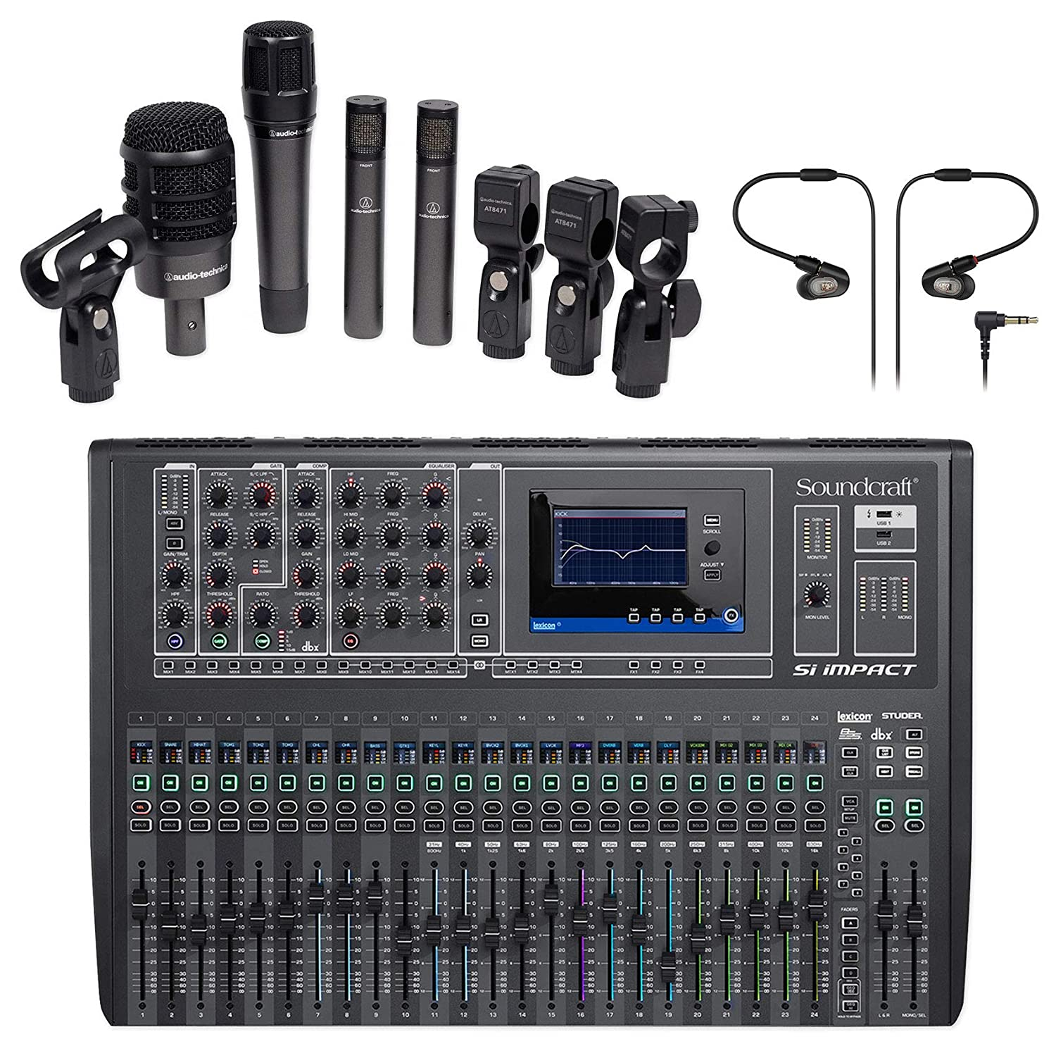 Soundcraft Si Impact DSP Mezclador digital + Audio Technica ...