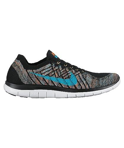 Nike Herren Laufschuhe Free 4.0 Flyknit schwarzblau