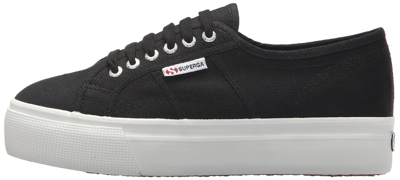 Superga Women's 2790 Acotw Fashion Sneaker B074G2ZC5N 38 M EU (7.5 US)|Black/White