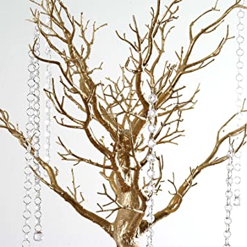 Amazon balsacircle 30 manzanita tree with garlands for wedding balsacircle 30quot manzanita tree with garlands for wedding centerpieces gold junglespirit Gallery