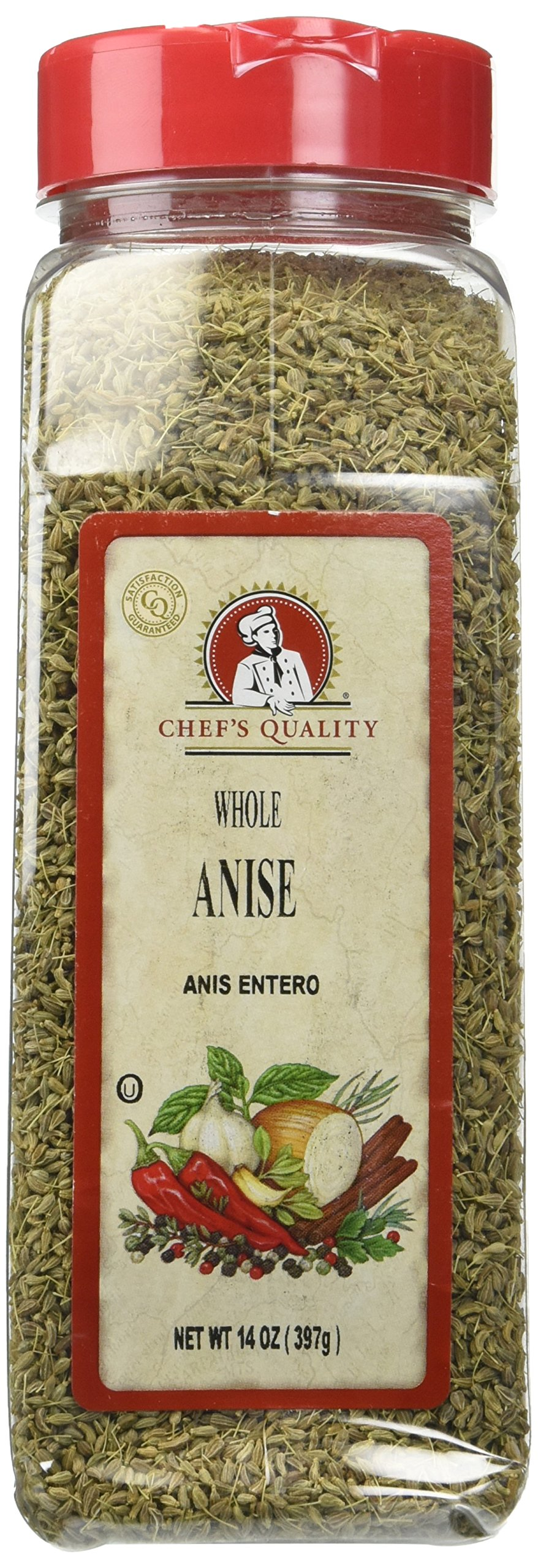 Chef's Quality Whole Anise Seed, 14 Ounce