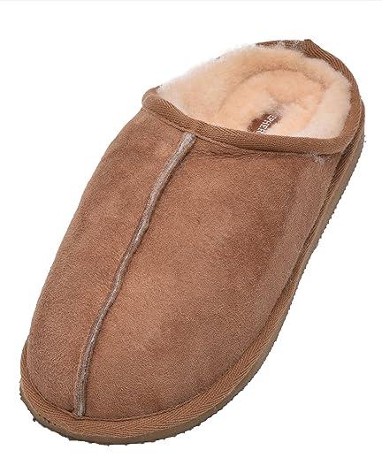 94a7dd444e08 Ladies Genuine Sheepskin Mule Slippers with Hard Sole  Amazon.co.uk ...