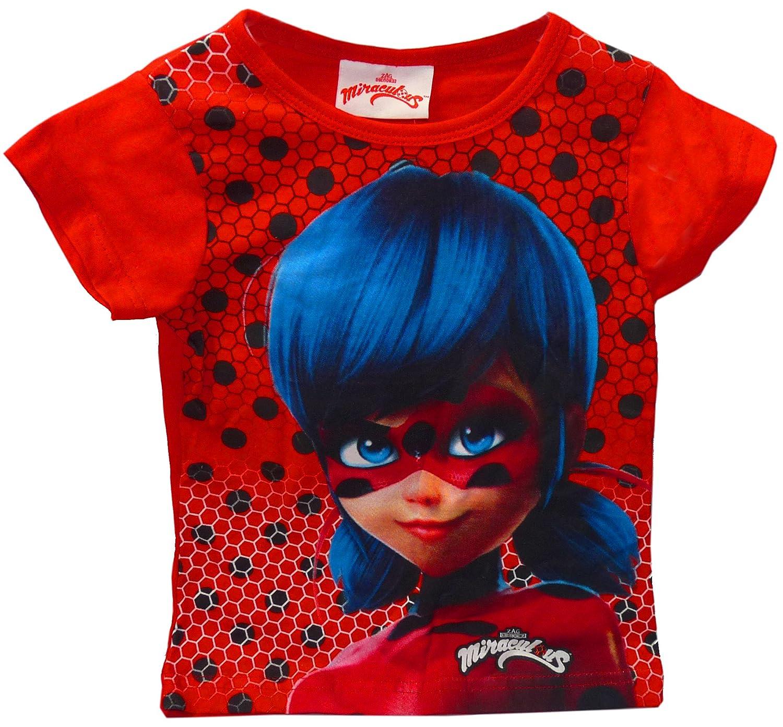 Miraculous Ladybug T Shirt,Kids T Shirt ,T Shirt For Girls BLACK) LADY BUG