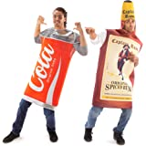 Rum & Cola Halloween Couples Costume - Funny Adult Men & Women Drinking Outfit