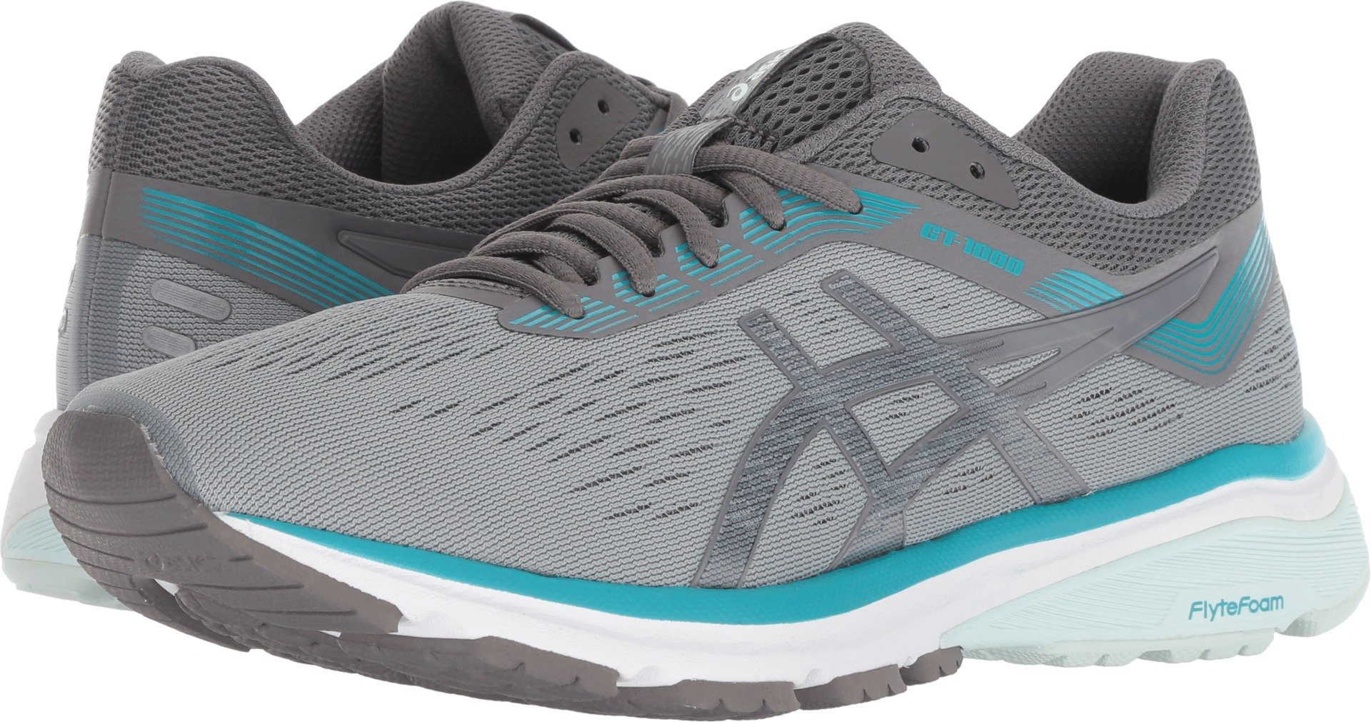 ASICS Women's GT-1000 7 Stone Grey/Carbon 5 B US by ASICS (Image #1)