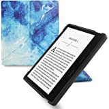 WALNEW Origami Case for 7 Inch Kindle Oasis (9th Generation - 2017 Release) Standing Cover with Auto Wake Sleep Function (7'' Kindle Oasis, Fish)