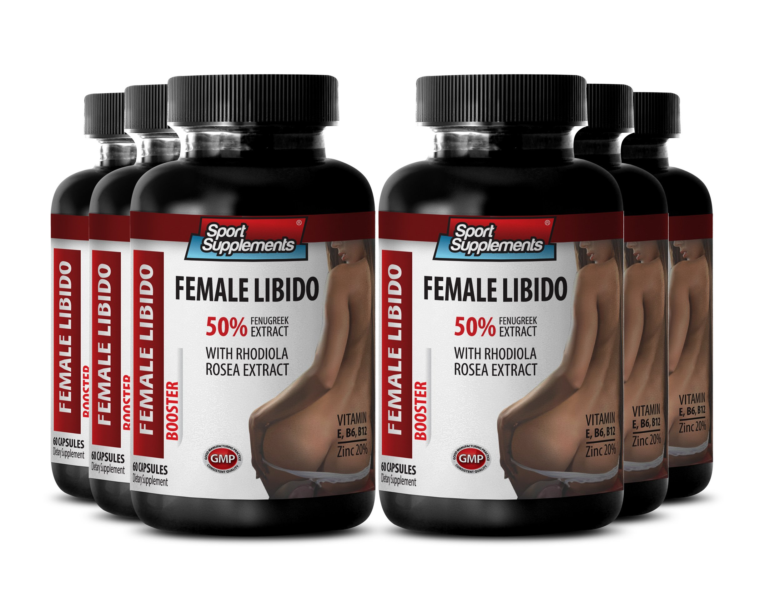 Female Pleasure and Endurance Herbal Enhancement - Female Libido Booster With Rhodiola Rosea Extract (6 Bottles 360 Capsules)
