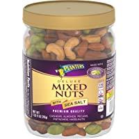 Planters Deluxe Mixed Nuts (27 oz Canister) - Variety Mixed Nuts with Cashews, Almonds, Pecans, Pistachios, Hazelnuts…