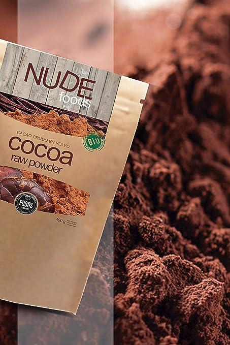 NUDE Foods Cacao Ecológico en polvo | Organic Raw Cacao | Bio ...
