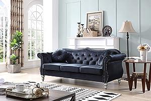 Glory Furniture Hollywood Sofas, Black