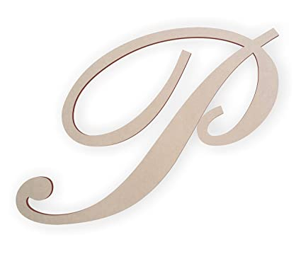 Amazon.com: Jess and Jessica Wooden Letter P For Wall, Wooden