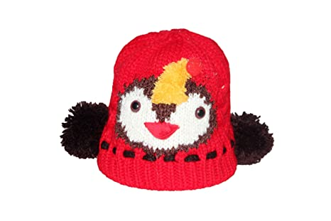 bda0bd4f22b Buy Malvina Baby Boys Winter Hat Scarf Earflap Hood Scarves Skull Caps  (Red) - Face-Side Protect Cap Online at Low Prices in India - Amazon.in