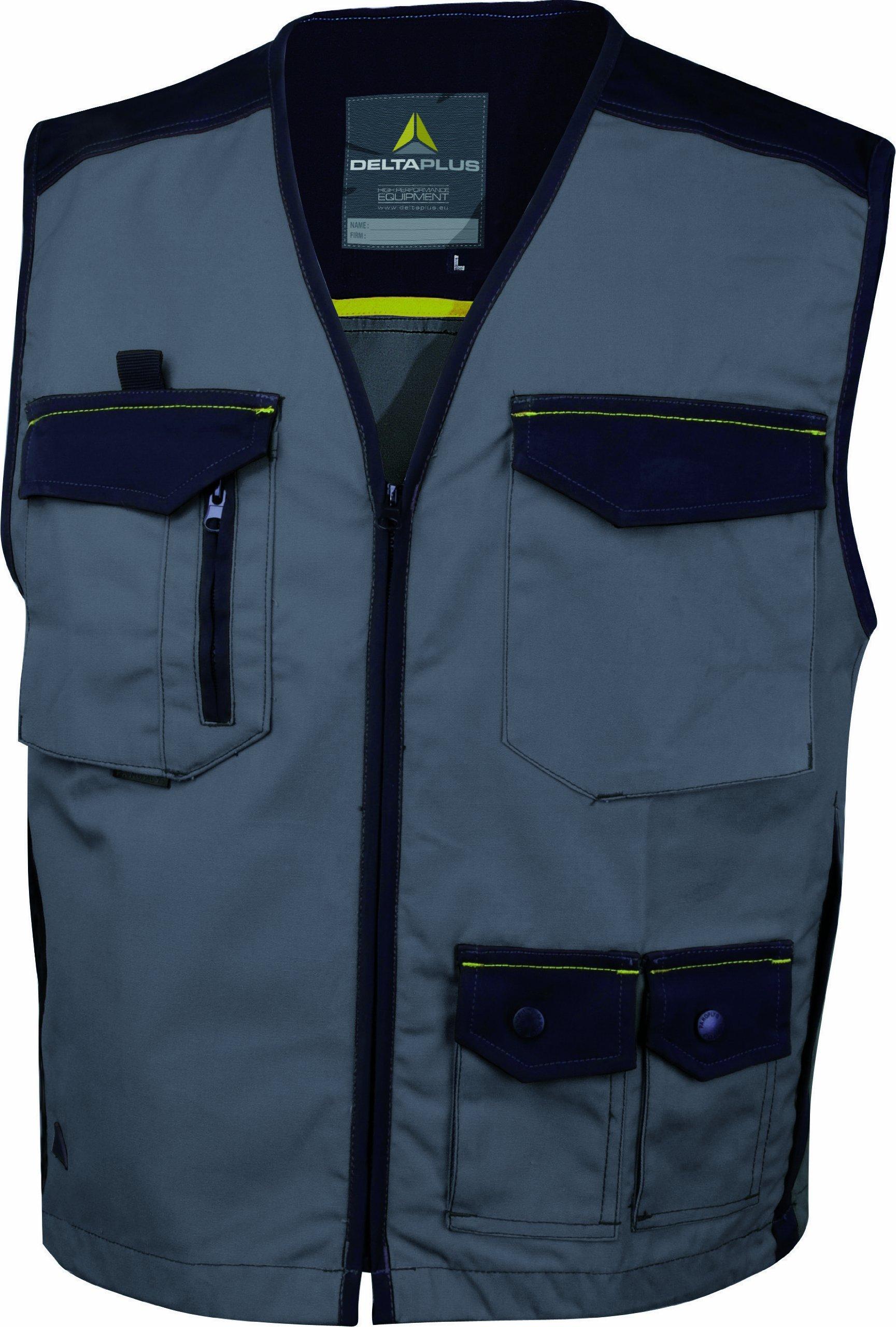 Panoply Men's Mach5 Spirit Lightweight Work Gilet Vest Jacket Bodywarmer Large/41-43 Grey/Black