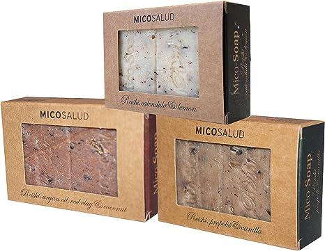 Hifas del hongo da Terra Mico-jabones - Pack de 3: Amazon.es: Belleza