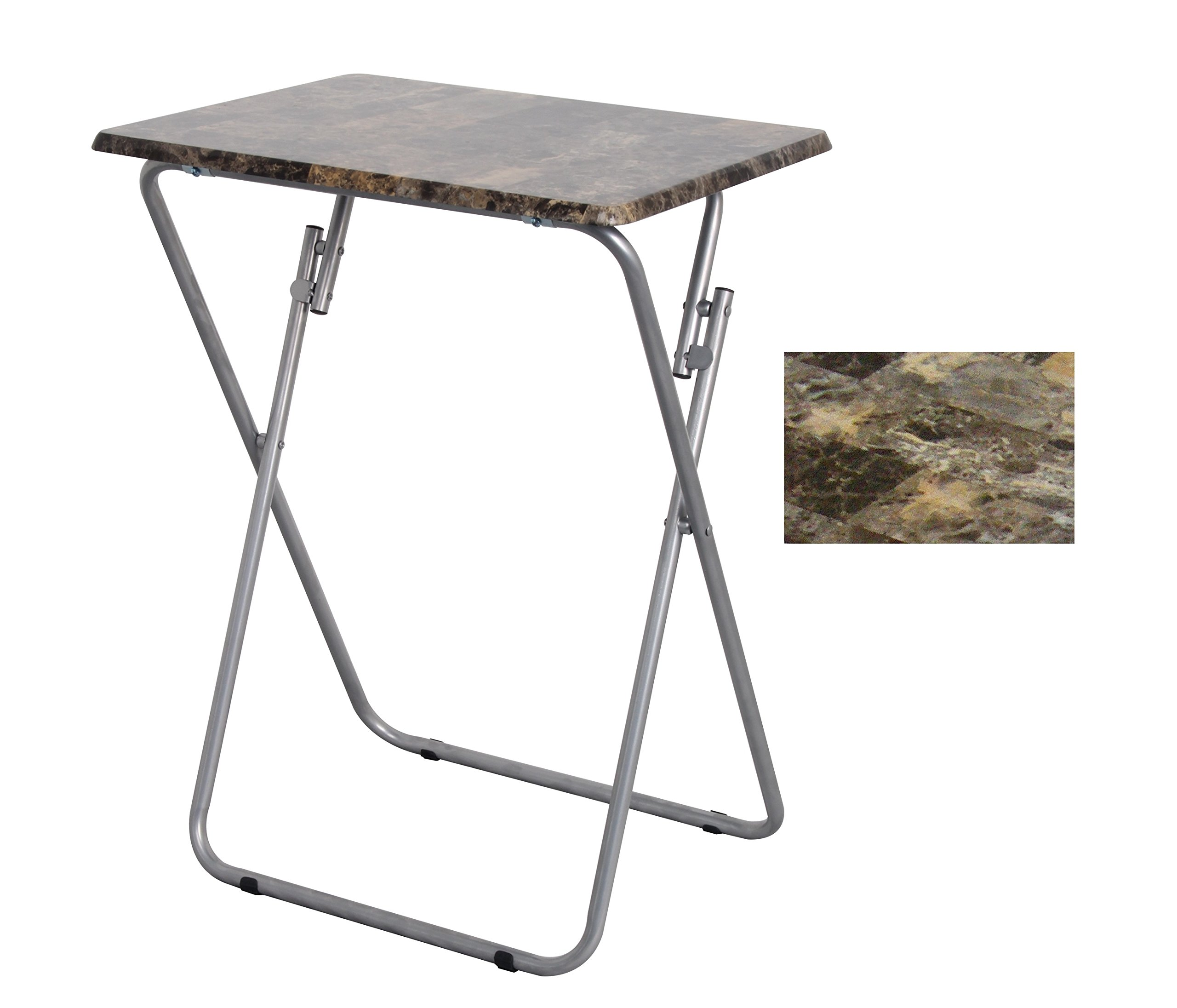 Above Edge Folding TV & Snack Tray Table, Marble- 6-Pack by Above Edge (Image #3)
