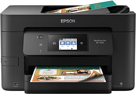 Epson Workforce Pro WF-3720 Wireless All-in-One Color Inkjet Printer, Copier, Scanner with Wi-Fi Direct, Amazon Dash Replenishment Enabled