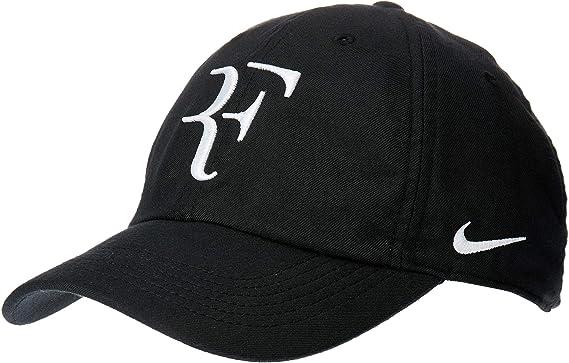Nike Unisex Roger Federer Aerobill Tennis H86 Cap White Black Sport AH6985-100