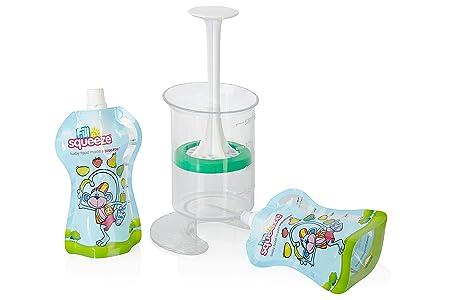 Filln Squeeze, Paquete de Relleno de Bolsas de Alimentos Resellables Reusables para Destete de bebés y Alimentación de niños, 10 x 150 ml: Amazon.es: Bebé