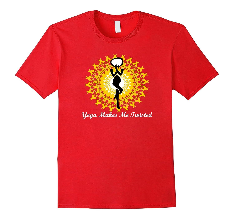 Yoga Makes Me Twisted Funny Yoga T-shirt-BN