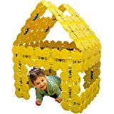 Fort Boards Prime Pack - Kids Fort Building Kit - Jumbo Toy Blocks - 90 Piece Set - Yellow