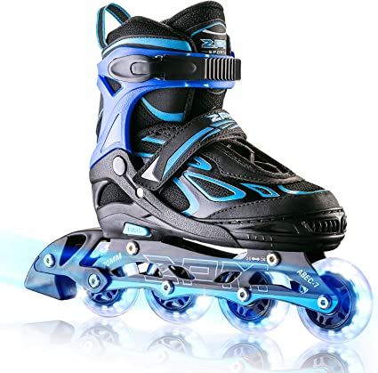 Roller Skates with Featuring All Illuminating Wheels for Girls and Boys Men and Ladies ITurnGlow Adjustable Inline Skates for Kids and Adults
