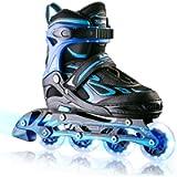 2PM SPORTS Vinal Girls Adjustable Inline Skates with Light up Wheels Beginner Skates Fun Illuminating Roller Skates for…