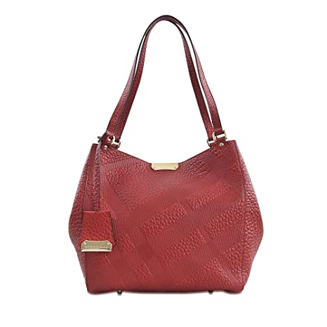 6d331abfe3b Burberry Canterbury Red Embossed Check Leather Tote: Amazon.ca: Sports &  Outdoors