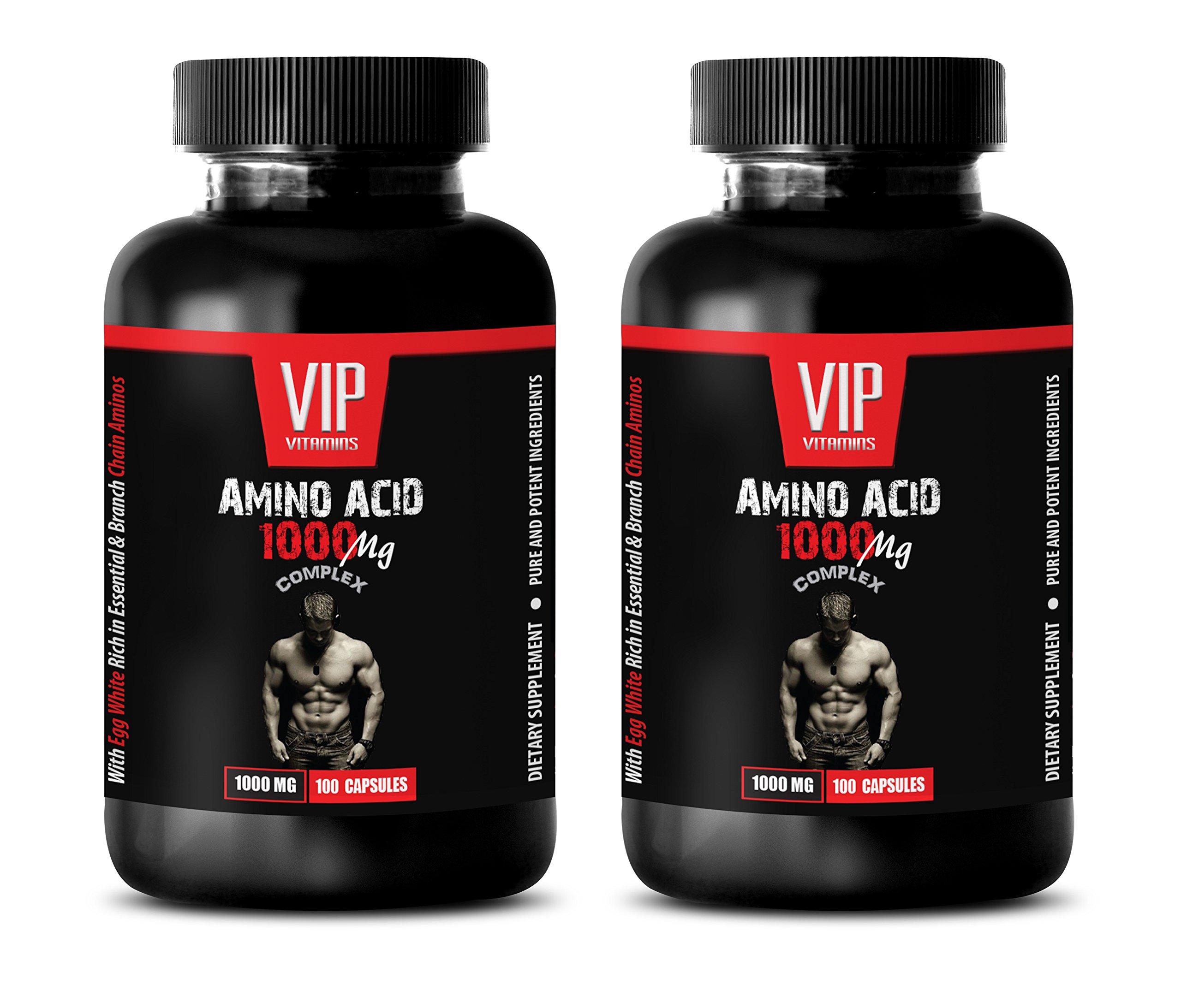 bodybuilding supplements for men - AMINO ACID 1000 MG COMPLEX - l-arginine bulk supplements - 2 Bottles 200 Capsules