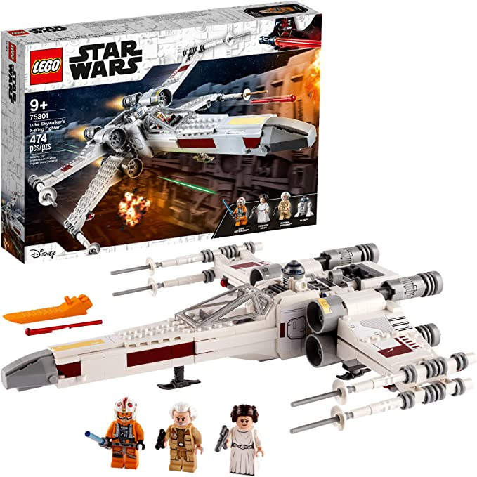 LEGO Star Wars Luke Skywalker's X-Wing Fighter 75301 Awesome Toy Building Kit for Kids, New 2021 (474 Pieces) | Amazon